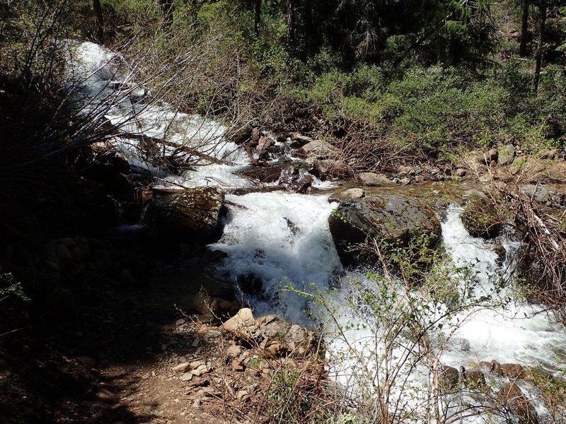 Upper Bear Gulch Creek at high water