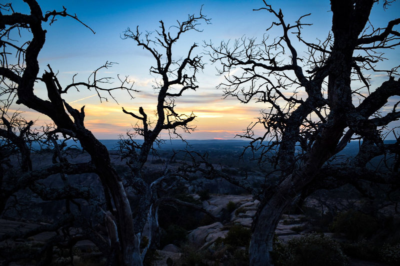 Sunset on top of NW Enchanted Rock