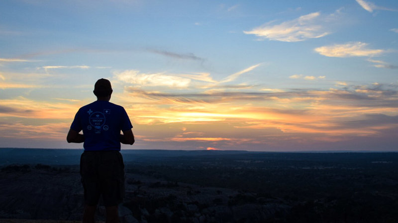 Sunset view from Enchanted Rock