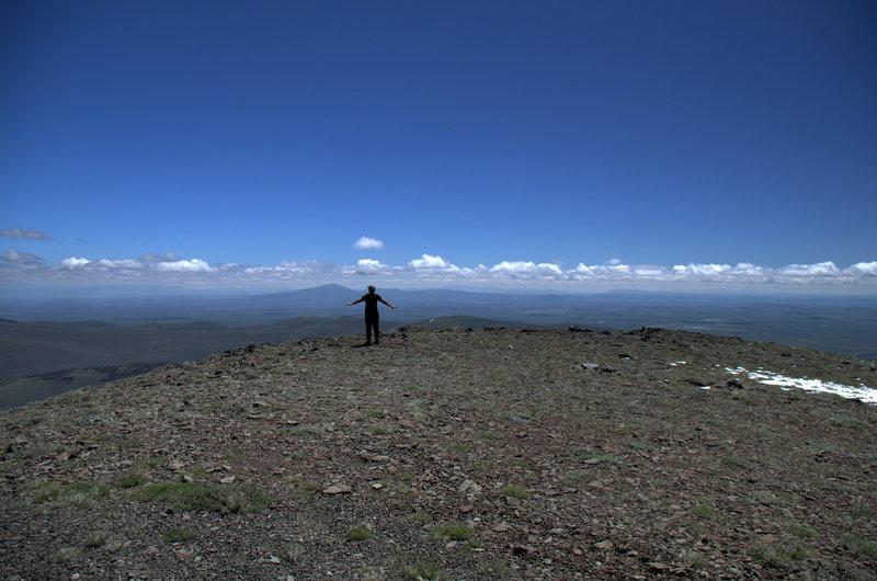 On the summit of Warner Peak