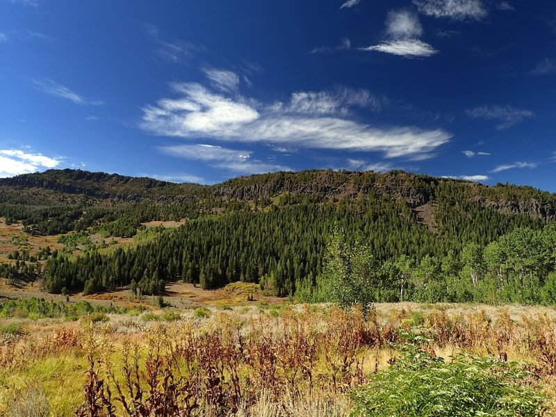 Climbing out of Pine Creek Basin