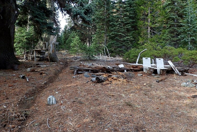 Sparlin Camp at the junction of the #1207 and the Elk Creek Trail #1230
