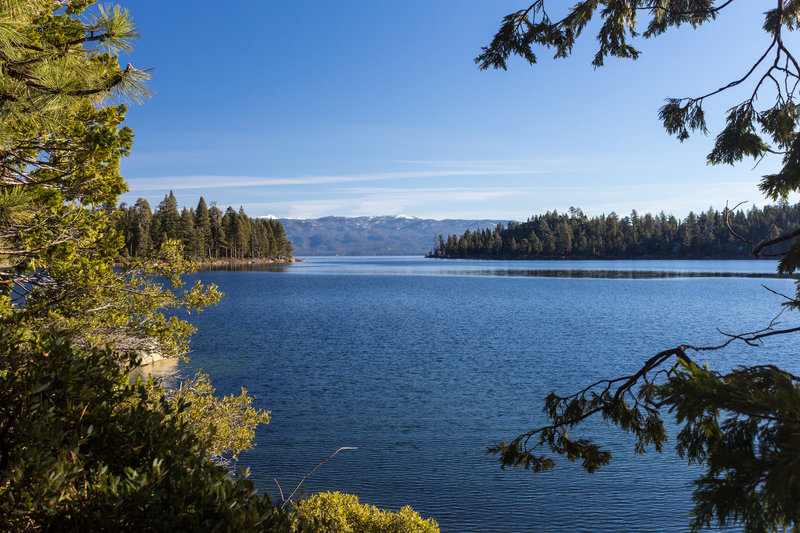 Mouth of Emerald Bay from Rubicon Trail