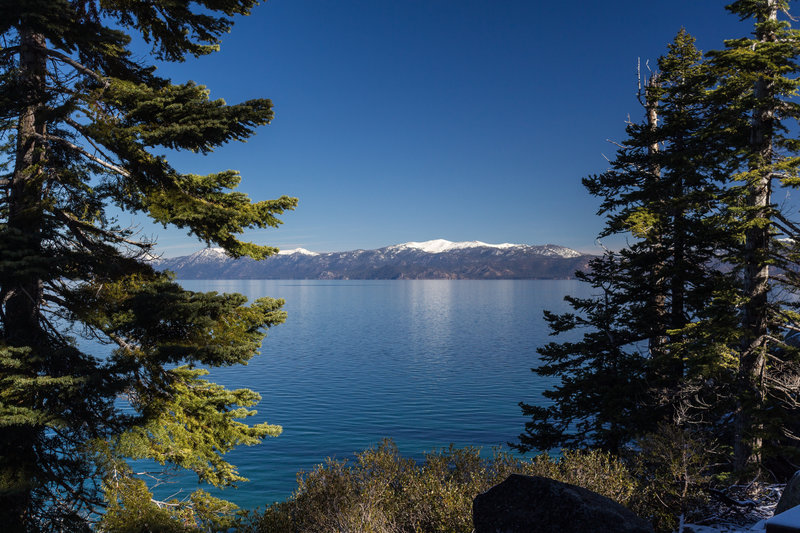 View from Rubicon Point across Lake Tahoe