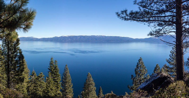 Panorama of Lake Tahoe from Rubicon Trail