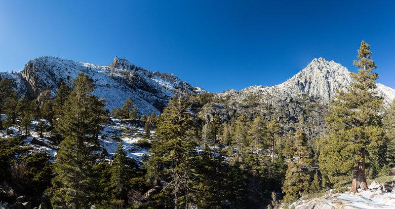Phipps Peak and Jakes Peak from Eagle Lake