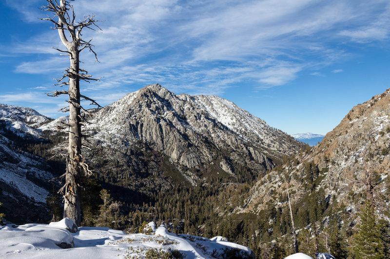 Jakes Peak from the snowy side of Maggies Peaks