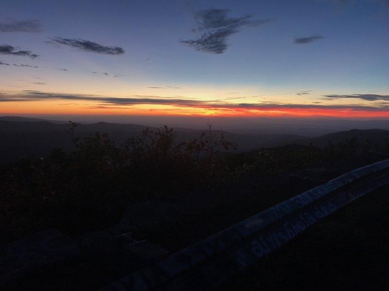 Reddish Knob Sunrise at the turnaround.
