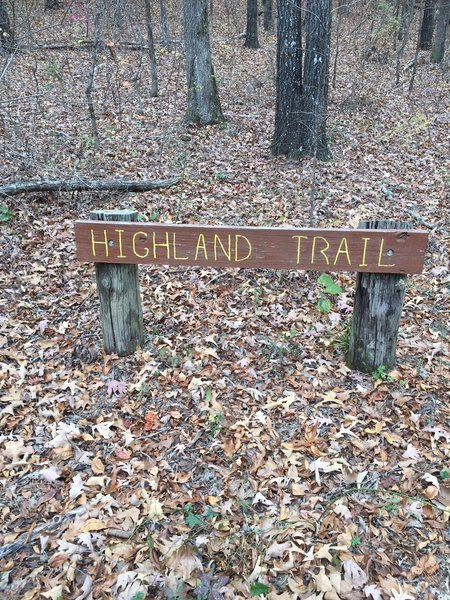 Sign near Trailhead