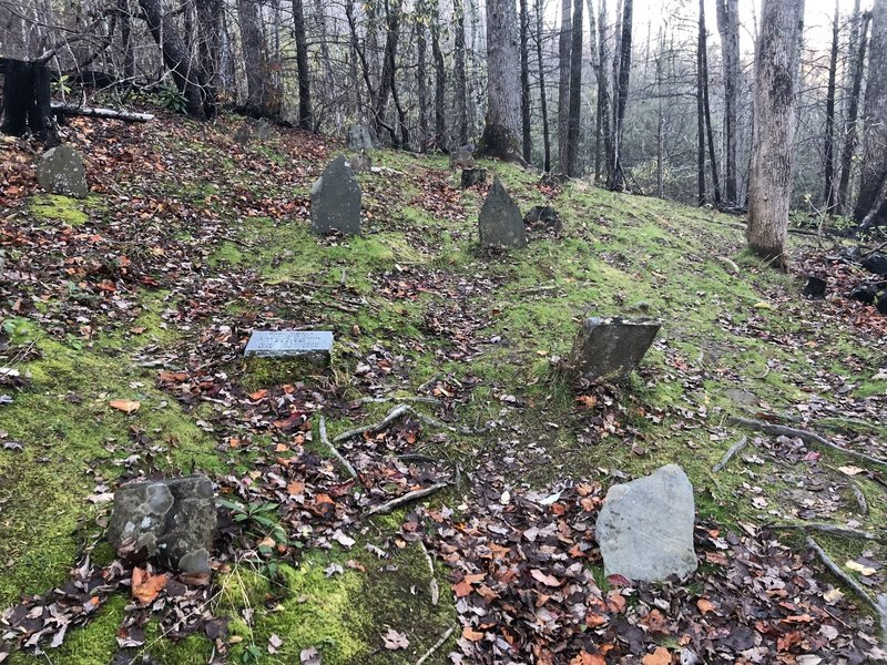 The small cemetery on the hill.