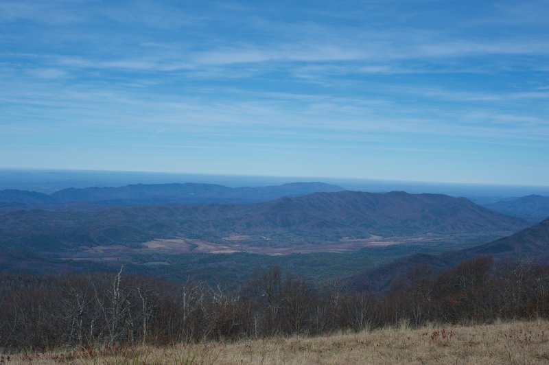 A view of Cades Cove from Gregory's Bald.
