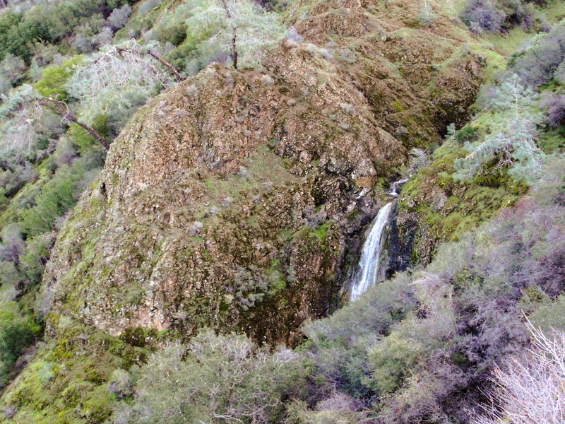 A dramatic waterfall after winter rains on Mount Diablo's Falls Trail
