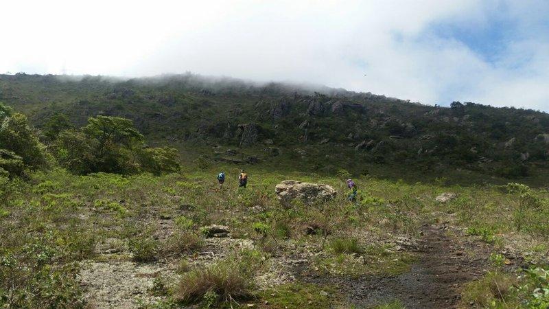 The steep uphill to Piedade santuary