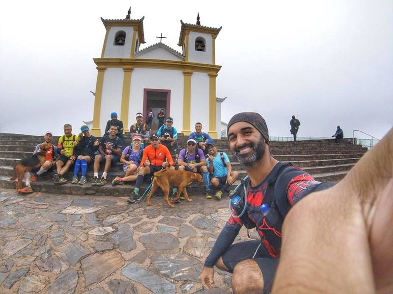 The Piedade santuary just on the summit of the mountain
