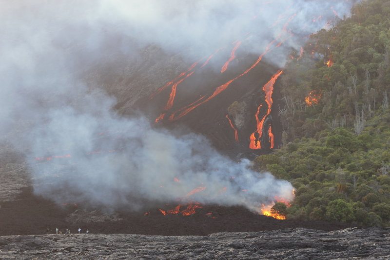 Lava flowing on the Big Island
