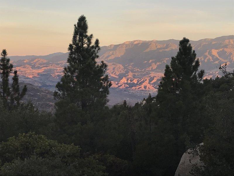 Beautiful views looking north at sunrise.