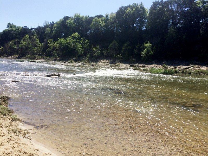 Paluxy River rapids