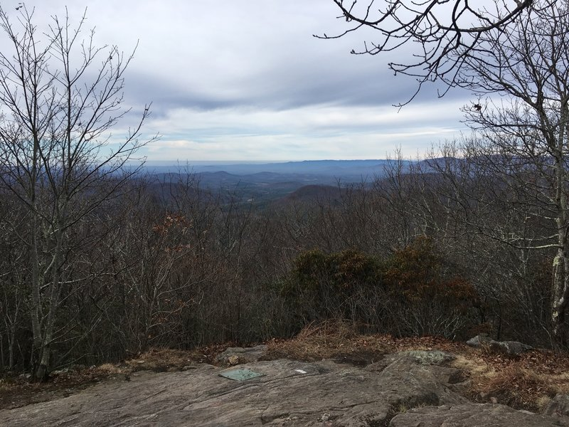 Overlook at the southern terminus of the AT, Springer Mountain GA