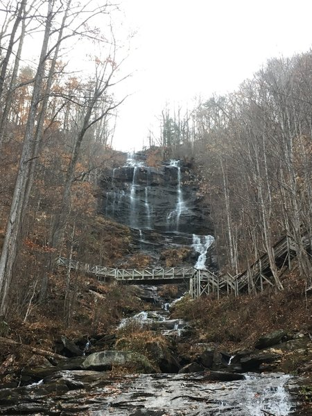 View of Amicalola Falls from West Ridge Trail