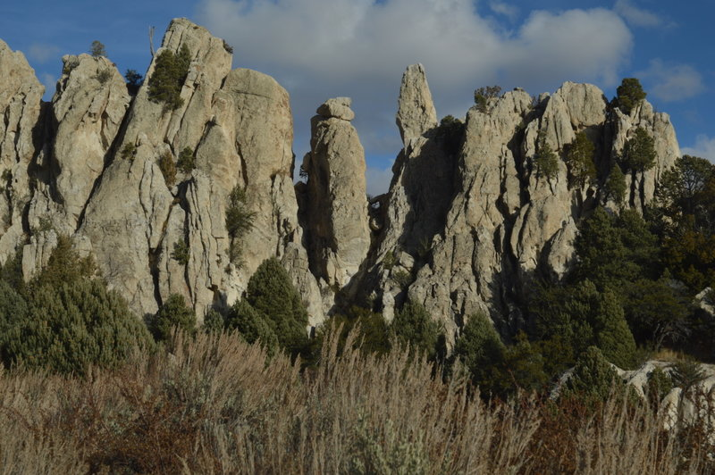 One of the many rock formations along the interpretive trail