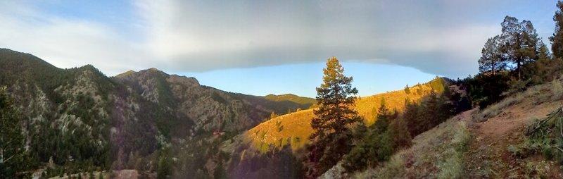 View down Eldorado Canyon