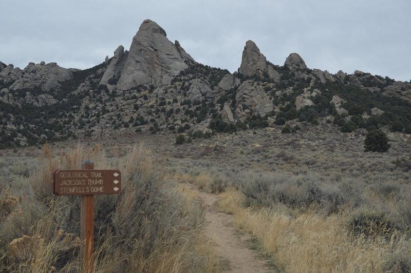 Trail Split from Geo Watt Trail