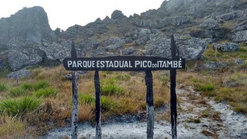 The park entrance.