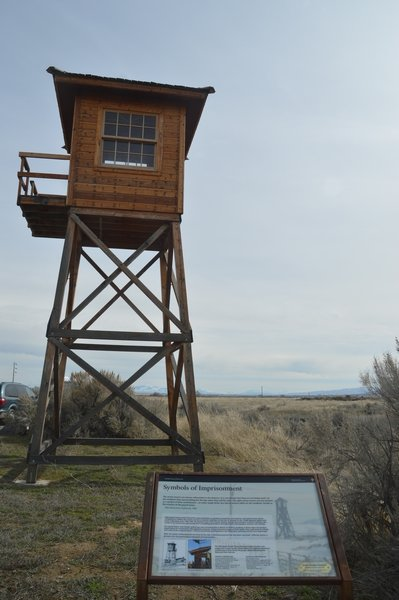 Popular gulag style guard tower (never manned)