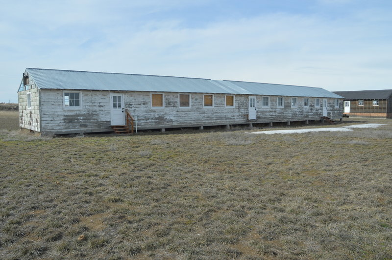One of the barracks each window represents living quarters for a family of four