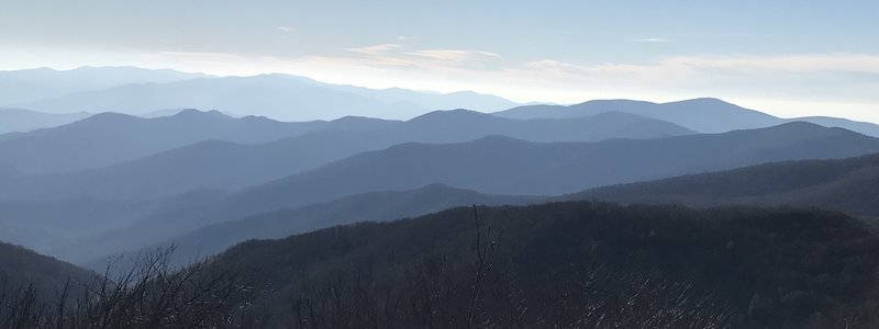 View from Thunderhead on AT in GSMNP on 11/25/2017