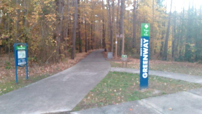 Trailhead for Swift Creek Greenway