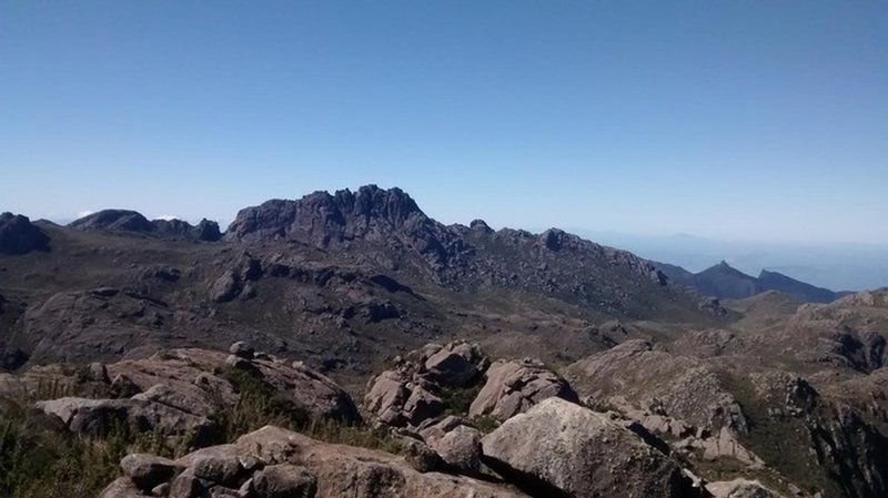 Agulhas Negras Peak seen from the trail.