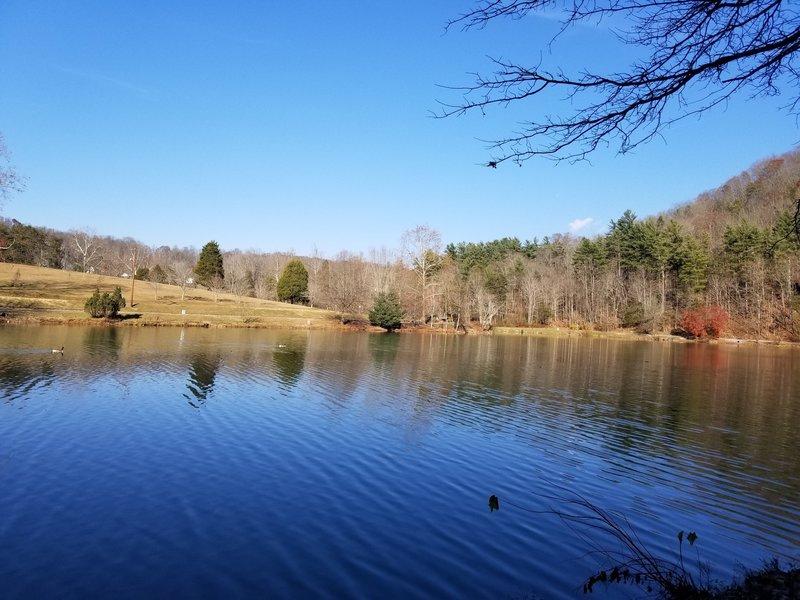 Lakeside trail beside Lake