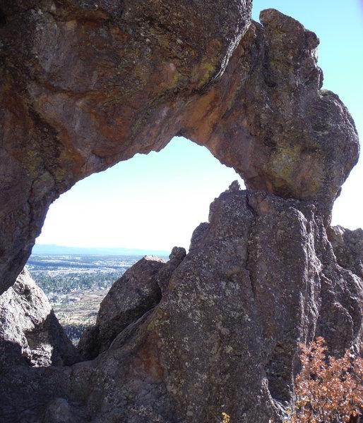 Los Alamos Natural Arch looking southeast.