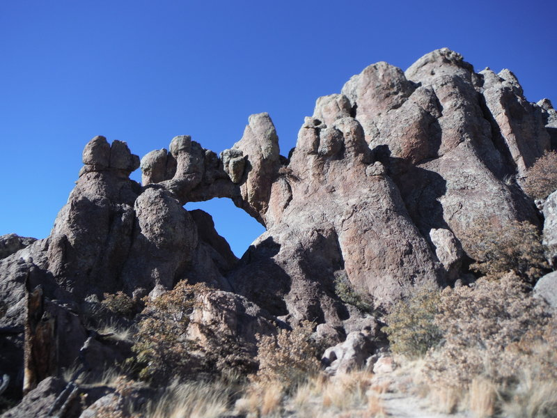 Los Alamos Natural Arch looking northwest.