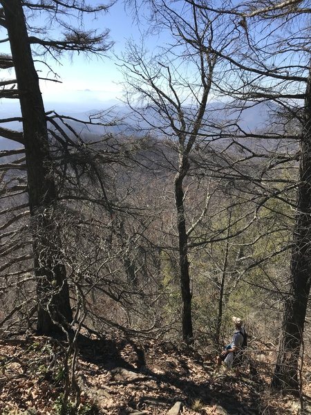View of the Blue Ridge as we trudge up through the steepness