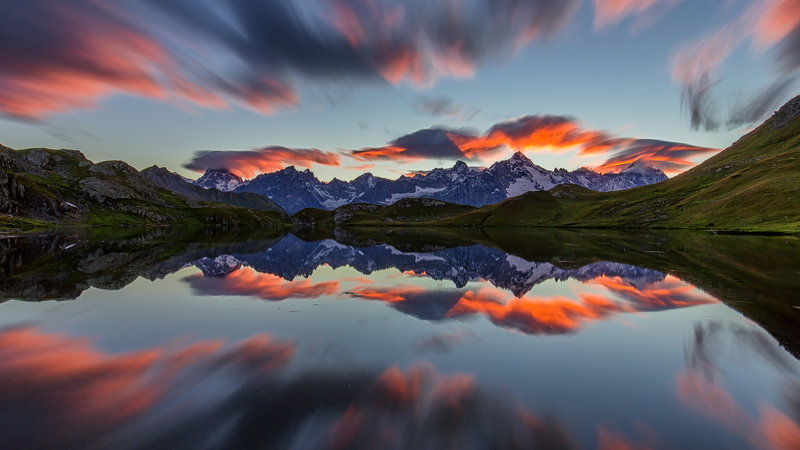 Lacs de Fenêtre afterglow 3