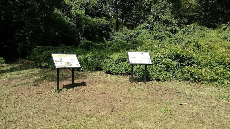Interpretive signs in the first butterfly garden