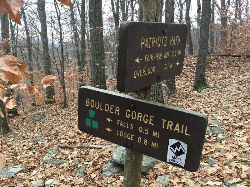 end of Boulder Gorge Trail