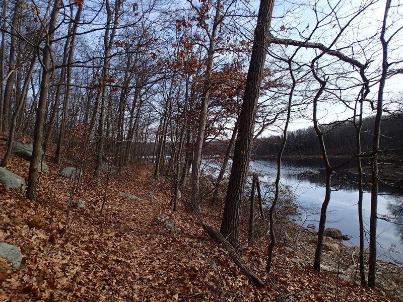 View of trail along Clinton Reservoir