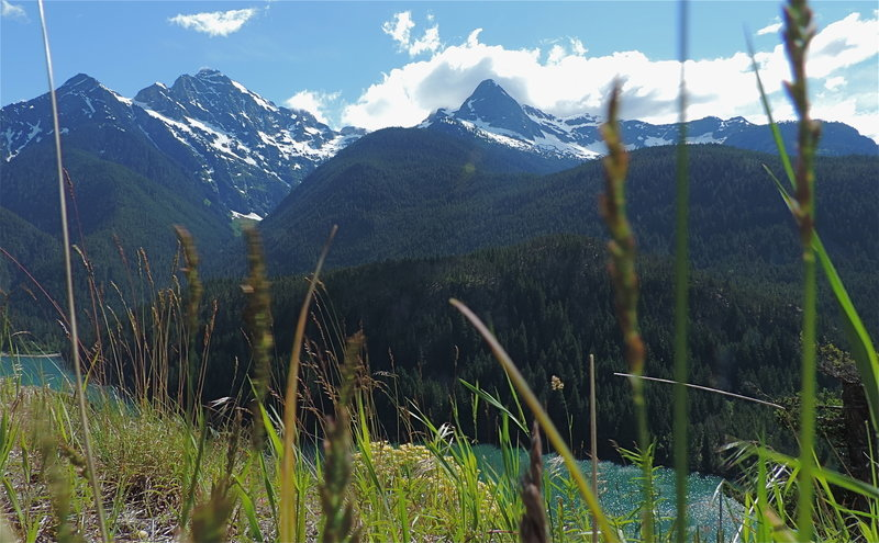 Colonial and Pyramid Peaks, above Diablo Lake
