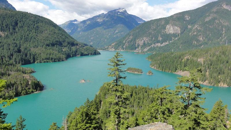 Diablo Lake in North Cascades