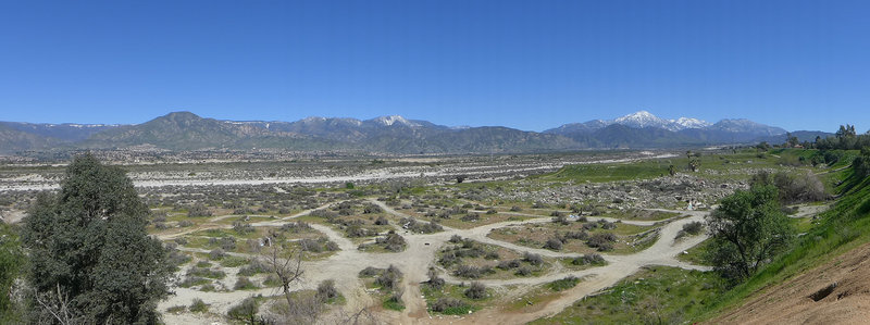 Santa Ana River from Bluffs Trail, Redlands.