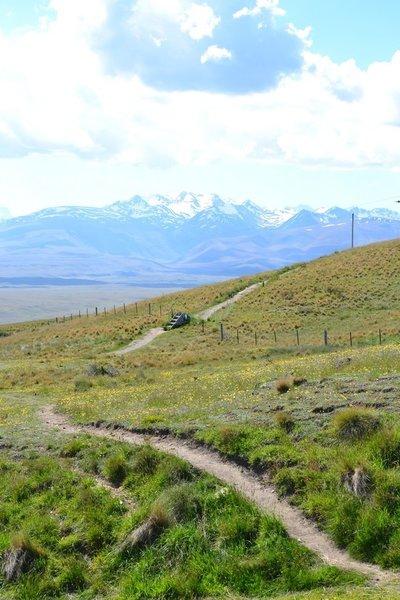Approaching the summit of Mount John