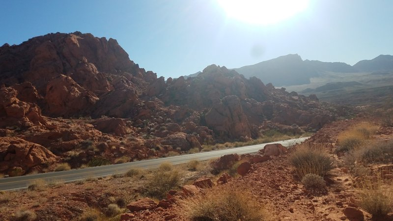 Trail aside of Valley of Fire highway