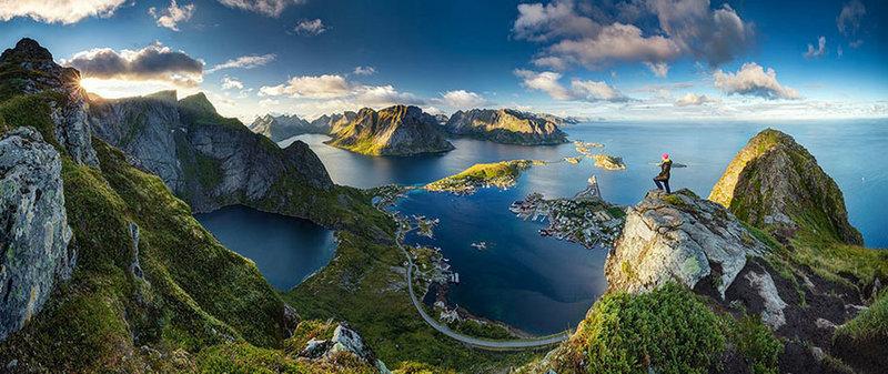 Overlooking Reine, in the Lofoten Islands, Norway