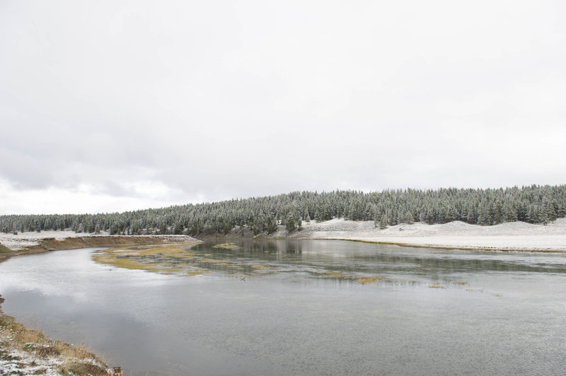 Overlooking the Yellowstone River in winter.