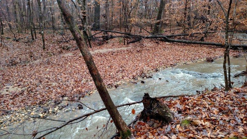 Impassable creek!