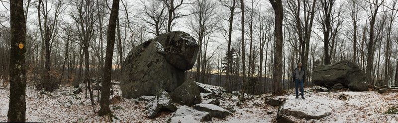 Couple giant boulders near the top...about 5 minutes more to go till the fire tower.