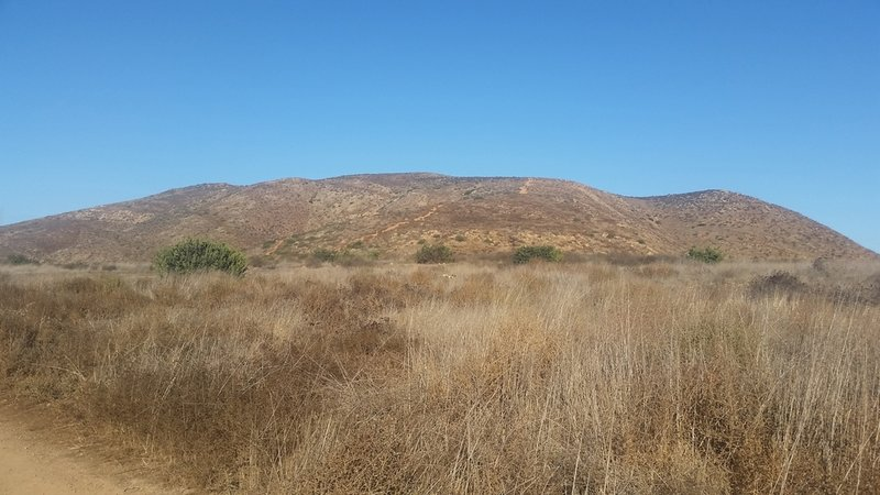 View of Mother Miguel Mountain from the trailhead
